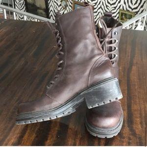 Vintage 80s leather Esprit engineer combat boots